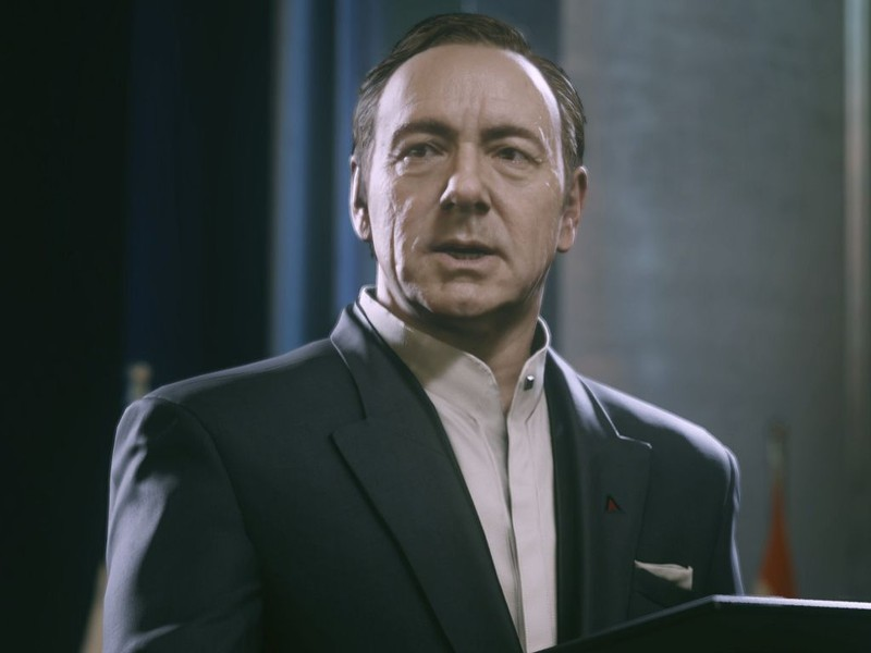 Say what you want about hating Call of Duty, but this rendering of Kevin Spacey alone made me want to buy the game months ago.